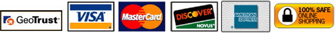 Validated with GeoTrust, you can shop safely online! - VISA, Mastercard, Discover, American Express