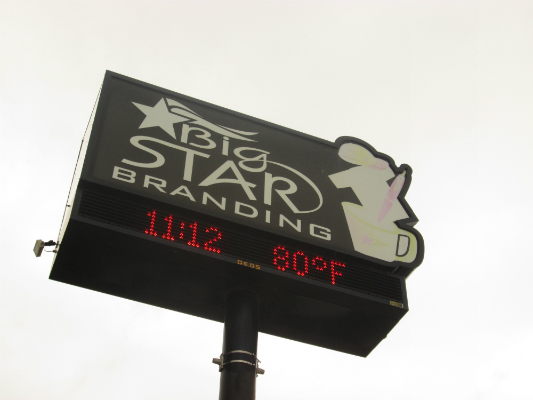 Big Star Branding Sign